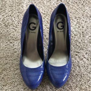 Guess blue high heels